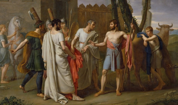 Cincinato_abandona_el_arado_para_dictar_leyes_a_Roma,_c.1806_de_Juan_Antonio_Ribera (2)
